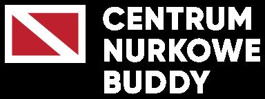 centrum nurkowe buddy logo białe